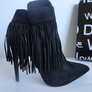 The Valerie Fringed Suede Bootie